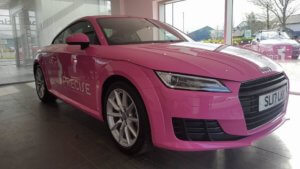 Picture of Precilla the pink Audi TT