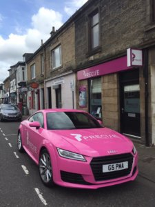 Precilla the pink Audi TT